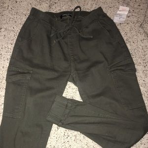 Olive green joggers/ worn once !